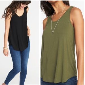 Set of 2: Like-new Luxe Old Navy Swing Tanks